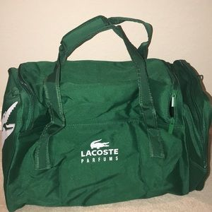 c18ffa24dcc081 Lacoste Bags - Lacoste Parfums Essential Green White Duffle Bag
